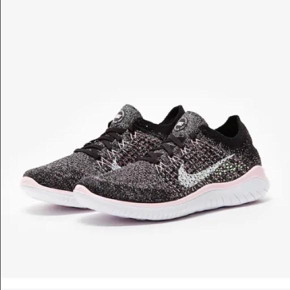 the best attitude 615b1 3f888 Nike Women's Free RN Flyknit 2018 Black/Pink NIB NWT